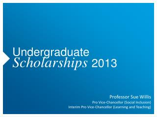 Undergraduate  Scholarships  2013