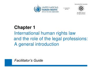 Chapter 1 International human rights law 	and the role of the legal professions: 	A general introduction