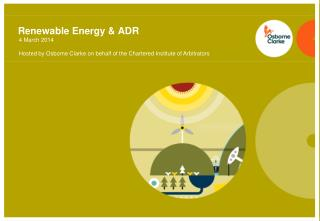 Renewable Energy &  ADR