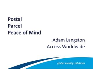 Postal Parcel Peace of Mind