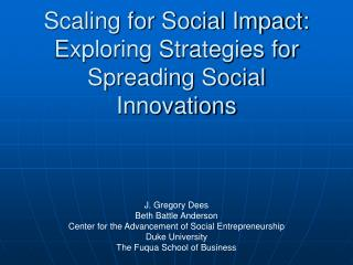 Scaling for Social Impact: Exploring Strategies for Spreading ...