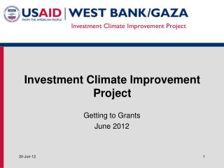 Investment Climate Improvement Project