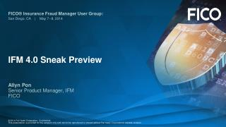 IFM 4.0 Sneak Preview