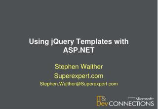 Using  jQuery Templates with ASP.NET