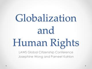 Globalization and  Human Rights