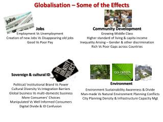 Globalisation – Some of the Effects