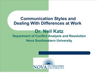 Communication Styles and Dealing With Differences at Work