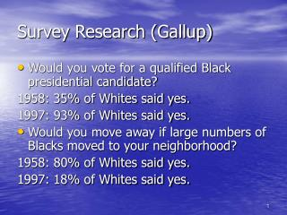 Survey Research Gallup