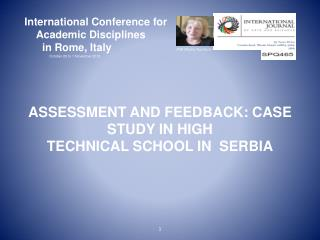 International Conference for      Academic Disciplines       in Rome, Italy