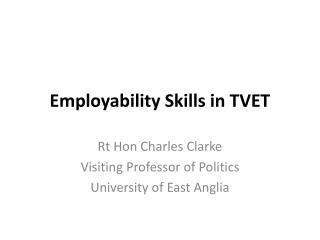 Employability Skills in TVET