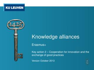 Knowledge alliances
