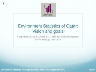 Environment  Statistics of  Qatar:  Vision and goals