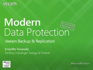 Modern Data Protection   Veeam Backup & Replication