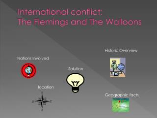 International conflict:  The Flemings and The Walloons