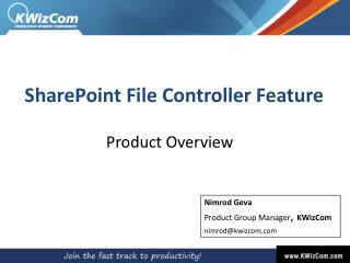 SharePoint File Controller Feature