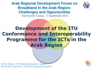 Development of the ITU Conformance and Interoperability Programme for the ICTs in the Arab Region