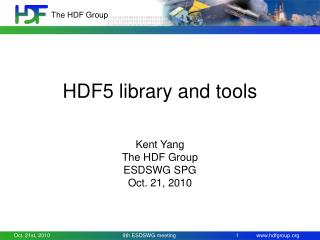 HDF5 library and tools