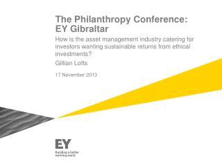 The Philanthropy Conference: EY Gibraltar