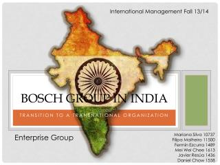 BOSCH GROUP IN INDIA