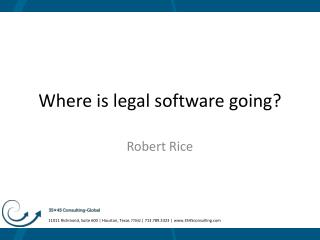 Where is legal software going ?