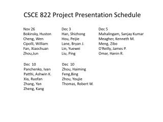 Nov 26 Bokinsky , Huston  Cheng, Wen  Cipolli, William  Fan,  Xiaochuan Zhou,Jun