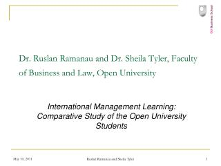 Dr. Ruslan Ramanau and Dr. Sheila Tyler, Faculty of Business and Law, Open University