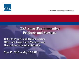 GSA  SmartPay  Innovative Products and Services