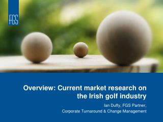 Overview: Current market research on the Irish golf industry