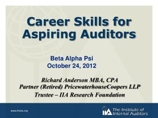 Career Skills for  Aspiring Auditors