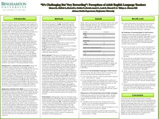 �It�s Challenging But Very Rewarding�: Perceptions of Adult English Language Teachers
