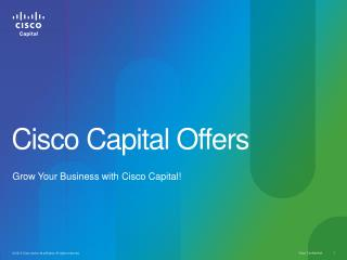 Cisco Capital Offers