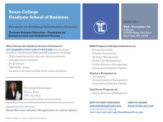 Touro College  Graduate  School of  Business