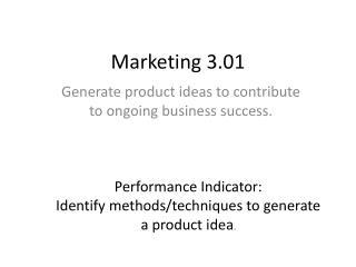 Marketing 3.01