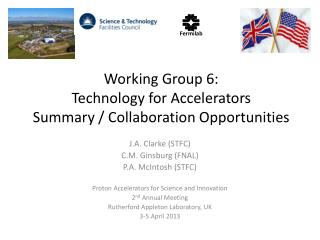 Working Group 6: Technology for Accelerators Summary / Collaboration Opportunities