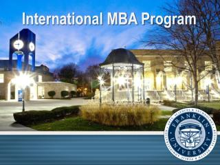International MBA Program