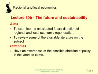 Lecture 10b - The future and sustainability