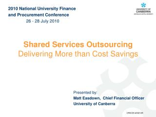 Shared Services Outsourcing  Delivering More than Cost Savings