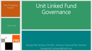 Unit Linked Fund Governance