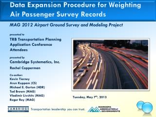Data Expansion Procedure for Weighting Air Passenger  Survey Records