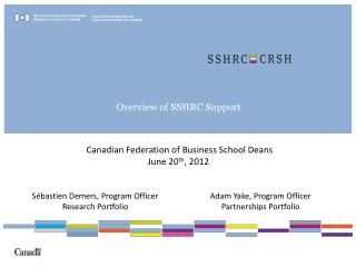 Overview of SSHRC Support