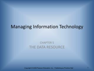 Managing Information Technology