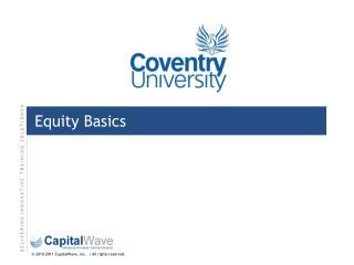 Equity Basics