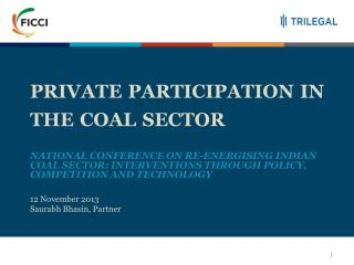 private  participation in the  coal  sector