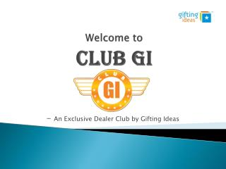 Welcome to  Club GI