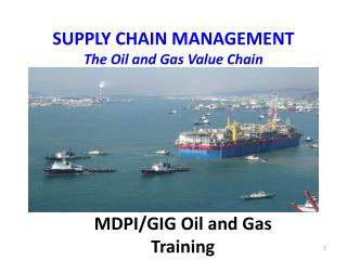 SUPPLY CHAIN  MANAGEMENT The Oil and Gas Value Chain