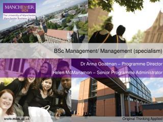 BSc Management/ Management (specialism)