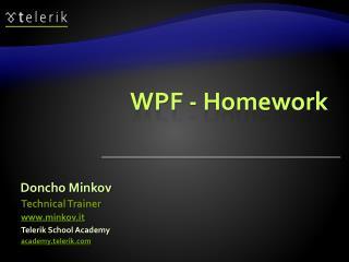 WPF - Homework