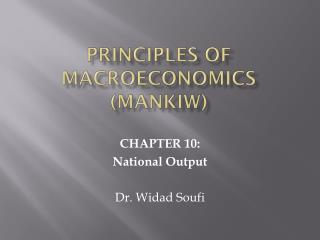 PRINCIPLES OF  MACROECONOMICS (MANKIW)
