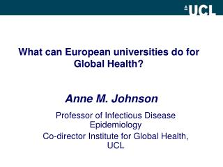 What can European universities do for Global  Health ?