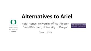 Alternatives to Ariel